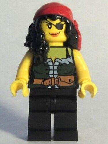 NEW LEGO PIRATE CHESS QUEEN w// SPYGLASS MINIFIG Pirates III minifigure pi172