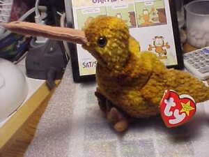 TY Beanie Babies Stuffed Animal Toy Name Beak Birthday February 3, 1998