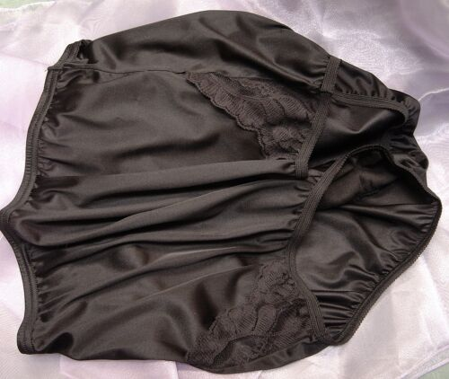 VANITY FAIR PERFECTLY YOURS LACE BLACK 13001//13801 NYLON BRIEFS PANTIES~9//2XL~NW