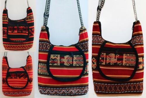 Peru Tasche Schultertasche Umhängetasche Inka Folklore Manta Stoff Hippie Ethno