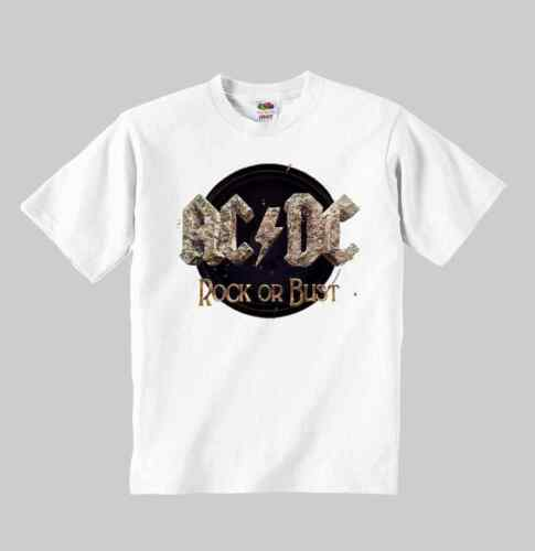 AC DC ROCK OR BUST 2 t-shirt ACDC kid shirt clothing toddler children size:1-8 y