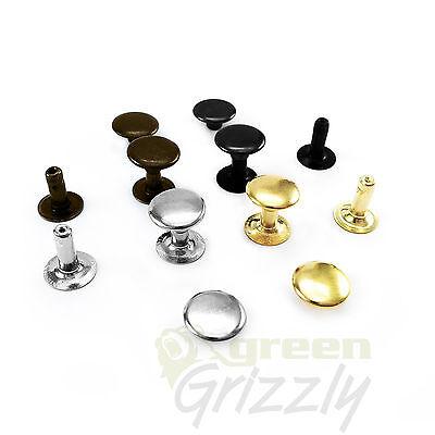 Steel Single cap dot rivets 9 x 9 mm Rapid Leather Craft Repairs DIY - AK9
