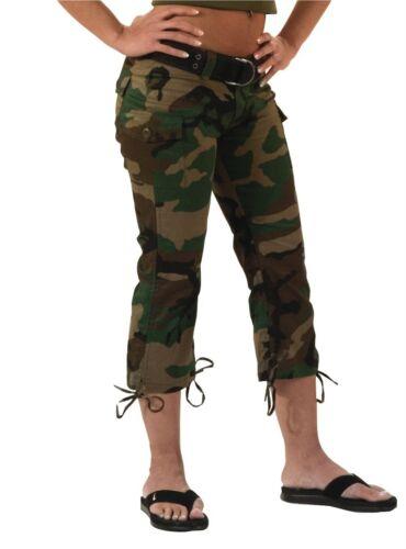 Woodland Camouflage Women/'s Capri Pants Rothco 1040