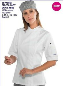 Kok Giacca Chef Italy m In Snaps Cotone White Jakke 057700m 100 Made Isacco M Lady BgBfZP