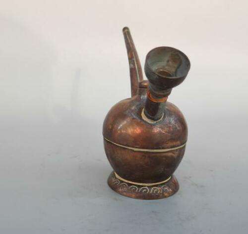 Chinese archaize pure brass Smoking tools statue