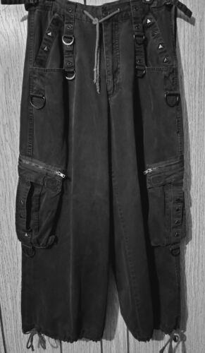 Tripp NYC Mens Goth Punk Black Wide Leg Pants M