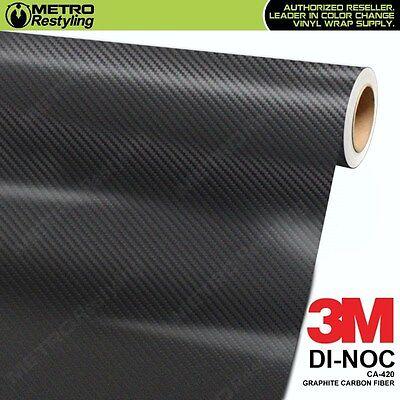 3M DI-NOC GRAPHITE CARBON FIBER Vinyl Sheet Flex Wrap Film Roll Adhesive CA-420