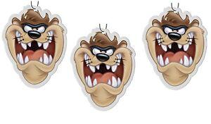 Looney Tunes Tasmanian Devil TAZ 3 Pack Air Fresheners - Ocean Scent