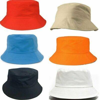 Da Uomo Donna Bush Secchio Cappello Boonie Festival Pesca Sole Estivo Spiaggia Hat Cap