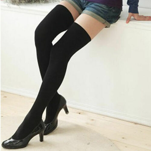 Damen Warm Überknie Overknee Lang Socken Strümpfe Kniestrümpfe Pr Stockings Q2X9