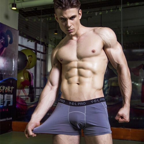 Men/'s Compression Underwear Fitness Shorts Breathable Boxer Briefs Plus Size Hot