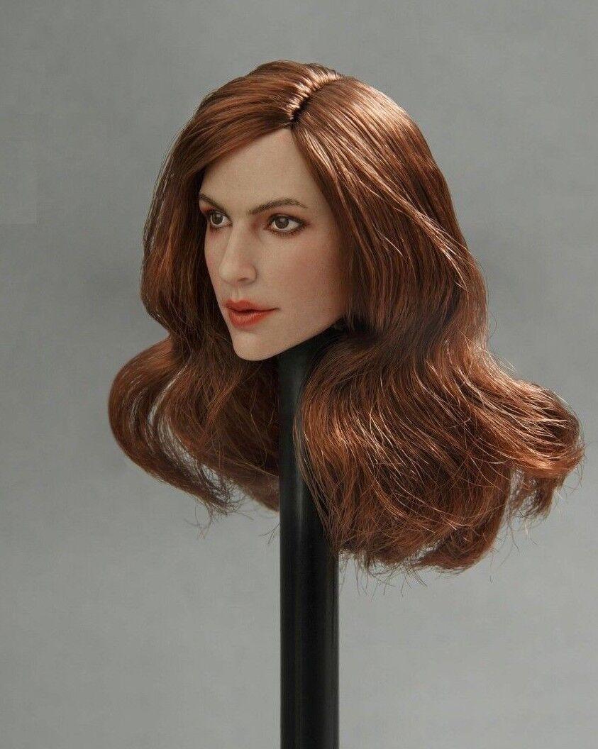 1 6 Female Head Sculpt BROWN Hair For 12    Hot Toys PHICEN TBLeague Figure ❶USA❶ 93f68e