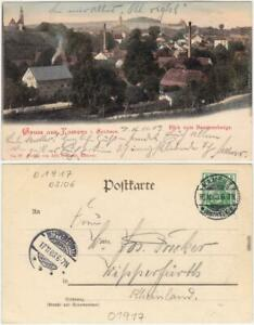 Kamenz Kamjenc Blick vom Bautznerberge  Ansichtskarte Oberlausitz 1903