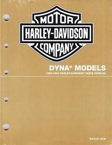 1993 1994 harley davidson dyna models parts catalog manual book new rh ebay com 1990 Sportster 1994 Sportster Black