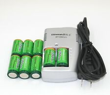 SUPER pack!8pcs 3V 1350mAh cr123a rechargeable lithium li-ion battery + charger