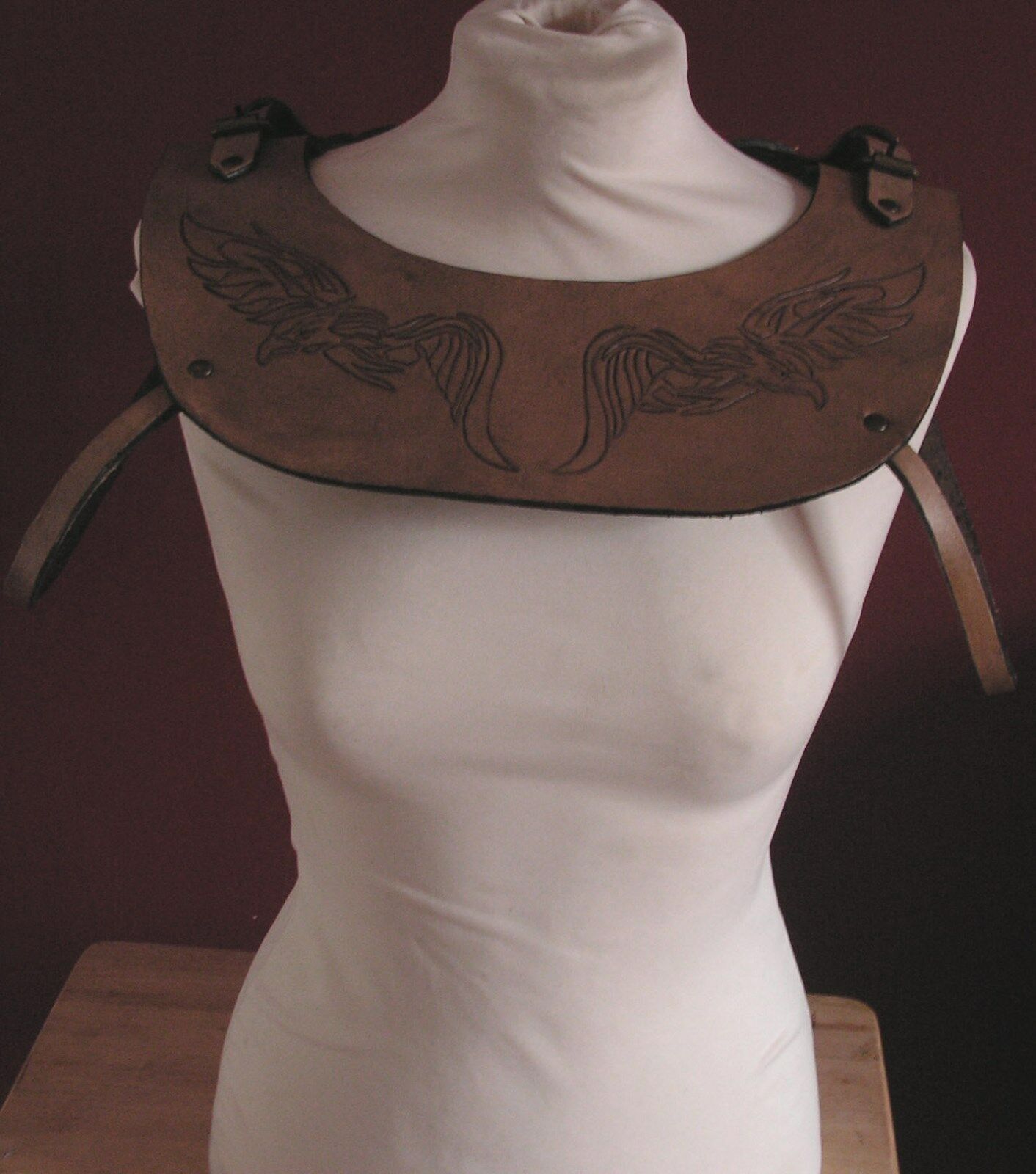 Handcrafted Brown Eagle Mantle, Larp, Role Playing, Re-enactment