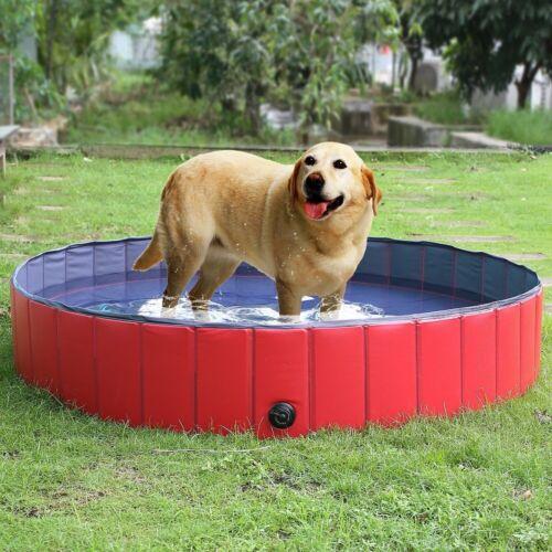 Spielzeug Hundepool Planschbecken DOGGY POOL Schwimmbecken Wasserbecken Wassermuschel 1,2M Hunde