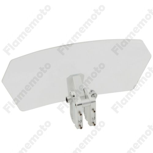 Adjustable Windshield Windscreen Clamp Clip On Variable Spoiler Universal Clear