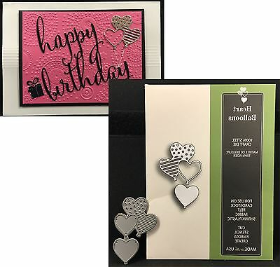 "POPPY STAMPS ""HEART BALLOONS"" 1124 die set All Occasion Birthday New Release"