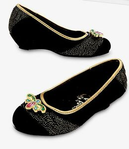 Disney Frozen Princess Anna Black and Gold Costume Boots 9//10