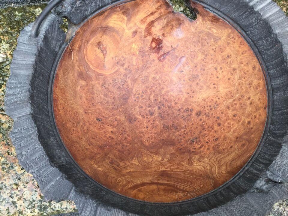 Elmerodsskål, Ulmus, motiv: Drejet og rillet elmerods
