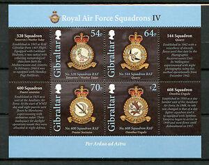 Gibraltar 2015 MNH Royal Air Force RAF Squadrions IV 4v M/S Aviation Stamps