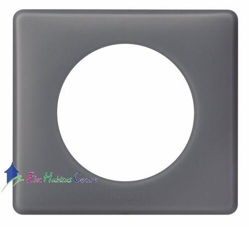 Lot de 10 plaques simple poudré Céliane schiste Legrand 66731
