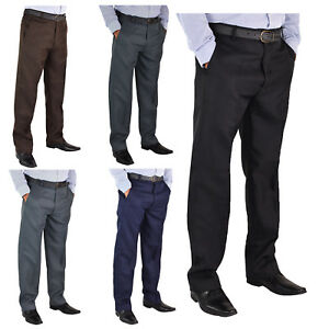 mens new big size casual formal trousers pants waist 3062