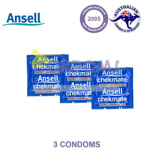 Ansell Chekmate Non-Lubricated (3 Condoms) SAMPLE PACK | eBay