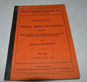 1956-Great-Northern-Official-List-of-Officers-Agents-amp-Stations-146-pages