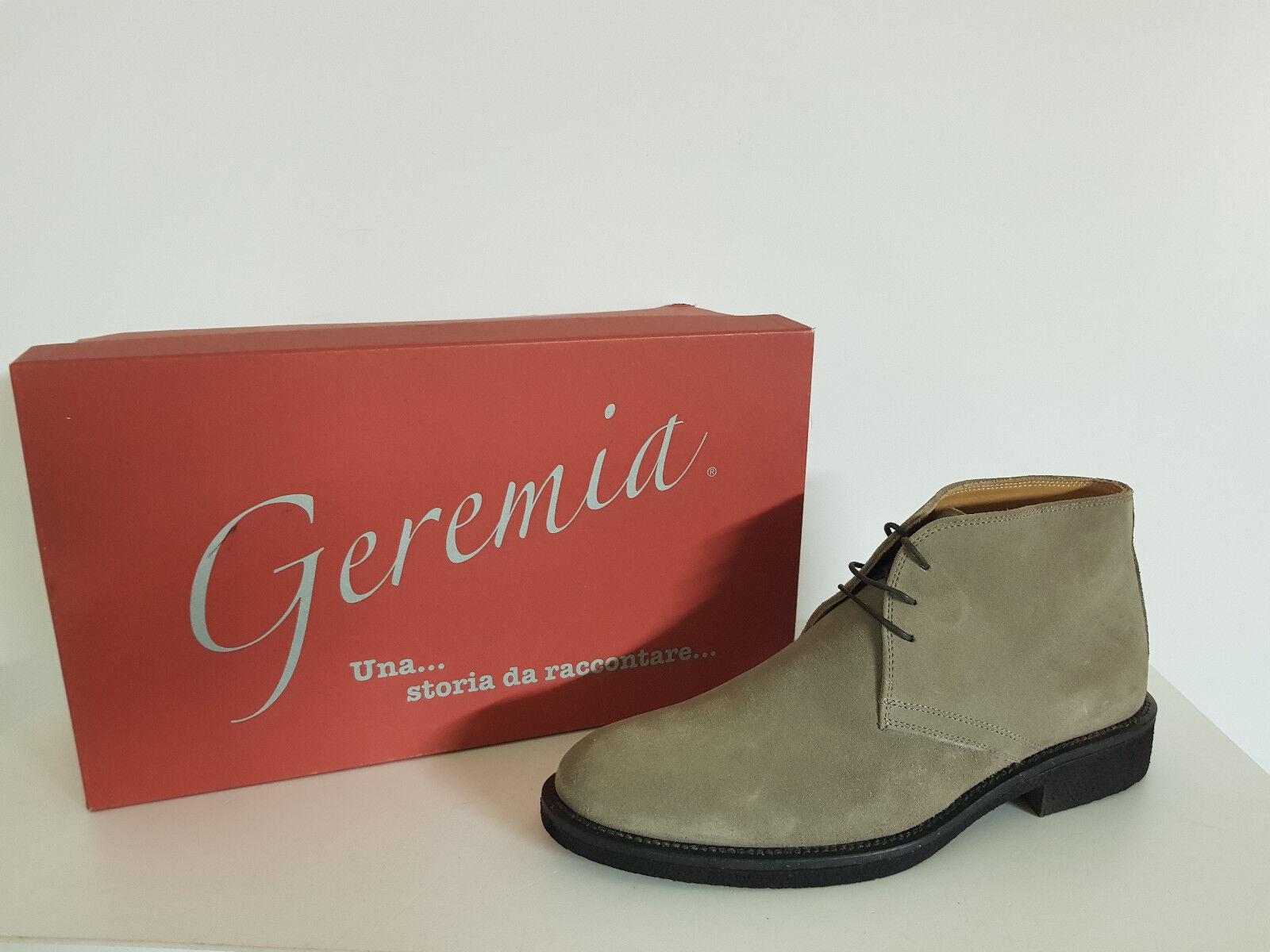 Herren Schuhe Geremia Rabatt. - 60%Nr. 605-4970F Velour Schiefer Col. beige