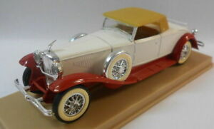 Solido-1-43-Escala-Modelo-de-Metal-SO58-dusenburg-J-Blanco-Rojo