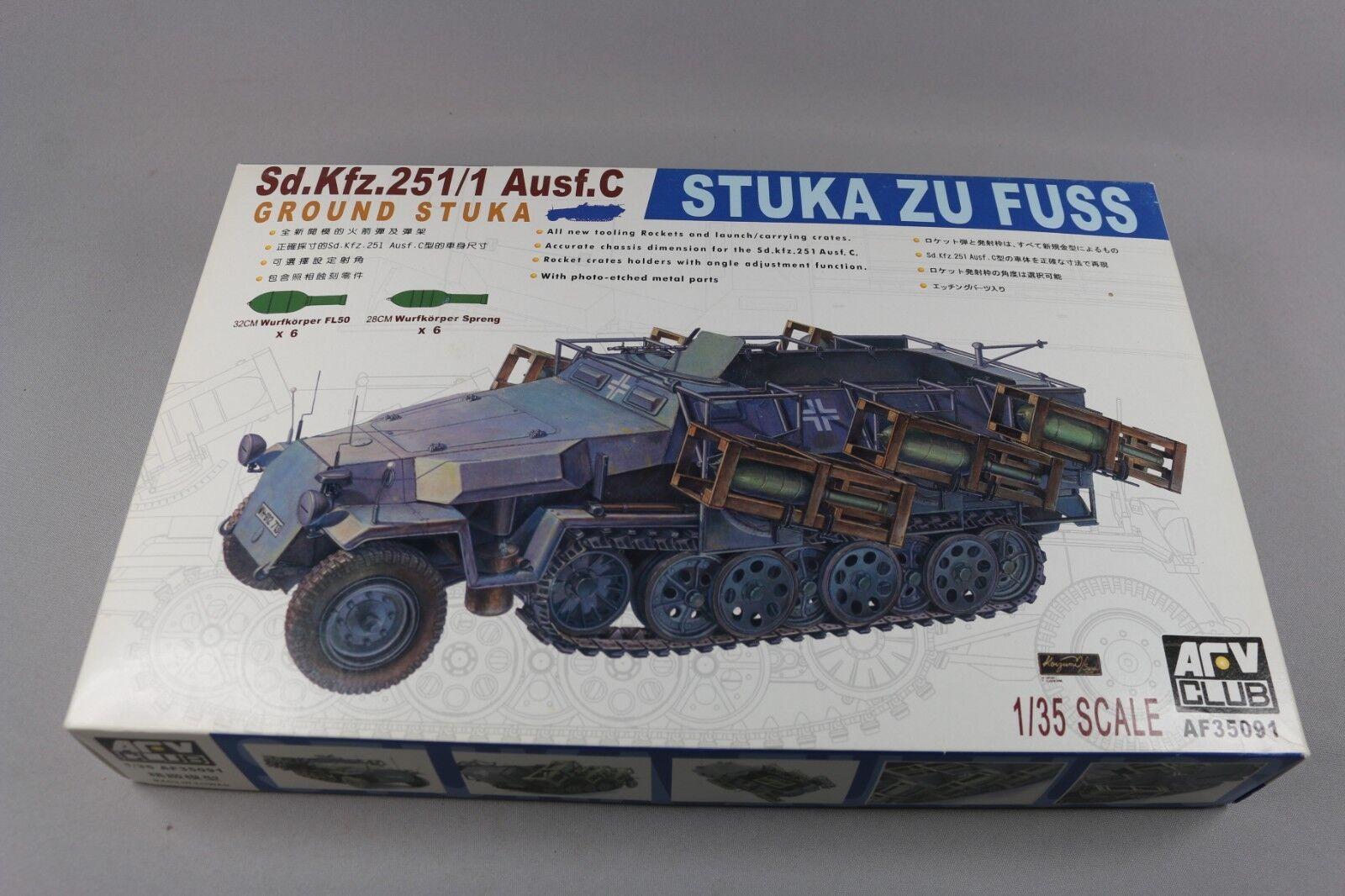 Zf1443 Arv Club 1 35 Model Military Af35091 Sdkfz 251 1 Ausf C Stuka Zu Fuss