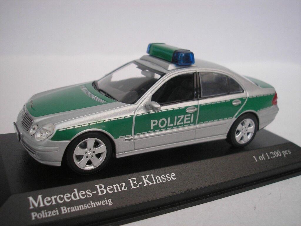 Mercedes Benz Classe 2004 POLIZIA brownSCHWEIG 1 43 Minichamps 400031592 NUOVO