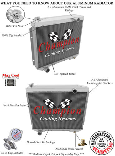 3 Row Racing Champion Radiator for 1959 Ford Galaxie