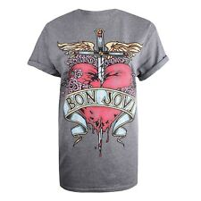 Bon Jovi - Heart and Dagger - Ladies Womens T-Shirt - Official Licensed