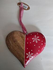 Coeur-bois-moitie-naturel-moitie-peint-rouge15x16cm-neuf