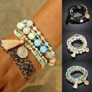 6Pcs-Set-Bohemian-Women-Multilayer-Tassel-Beads-Bangle-Bracelets-Fashion-Jewelry