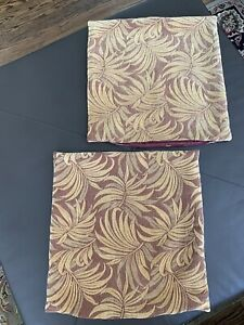 Set-of-2-20x20-Square-Pillow-Covers-Como-Palm-Leaves-Tapestry