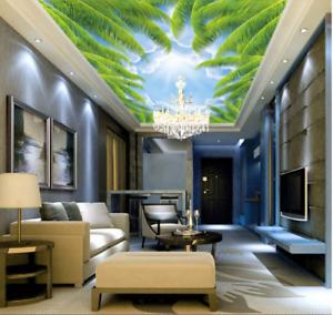 3D greene Blätter 754 Fototapeten Wandbild Fototapete BildTapete Familie DE Kyra