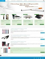 PROFESSIONAL 'ELECTRONIC' 'CIGARETTES' SHOP WEBSITE BUSINESS FOR SALE!