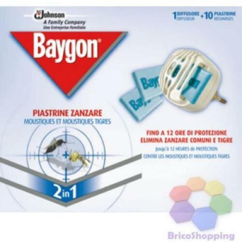 ELETTROEMANATORE BAYGON 10 PIASTRINE PER ZANZARE.