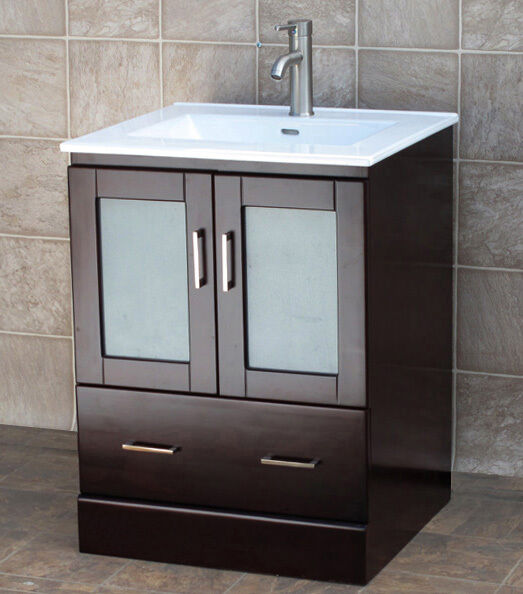 Bathroom White Vanity 24 Inch Cabinet