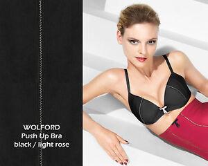 e263f659d516e Wolford Boudoir PUSH-UP BRA • 70 B • black light rose ..... Satin ...