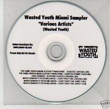 (B596) Wasted Youth Miami Sampler - DJ CD
