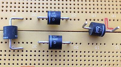 10 pc uf600m Ultra silicium-Redresseur Diode 1000 V 6 A p600 Diotec