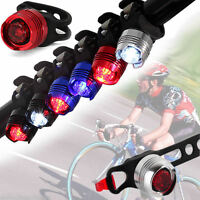 waterproof LED Luz Trasera cola Bicicleta Bici Advertencia Seguridad Tail Light