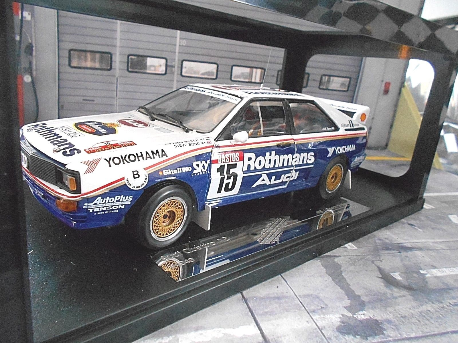 Audi Quattro Rallye Gr. B ANTIBES 1986  15 Bosch Bond rougehma NS Neuf Sunstar 1 18