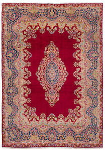 Hand-knotted-Carpet-8-039-9-034-x-12-039-9-034-Traditional-Vintage-Wool-Rug