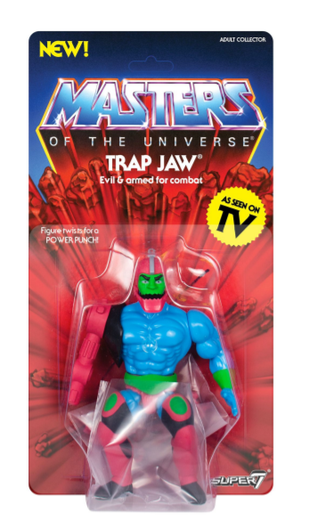 Vintage Trap Jaw 14 cm Action Figure NUOVO Super7 Masters of the Universe MOTU